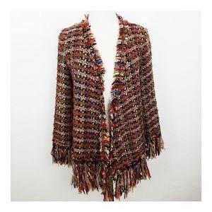 Zara Multi Color Tweed Blazer